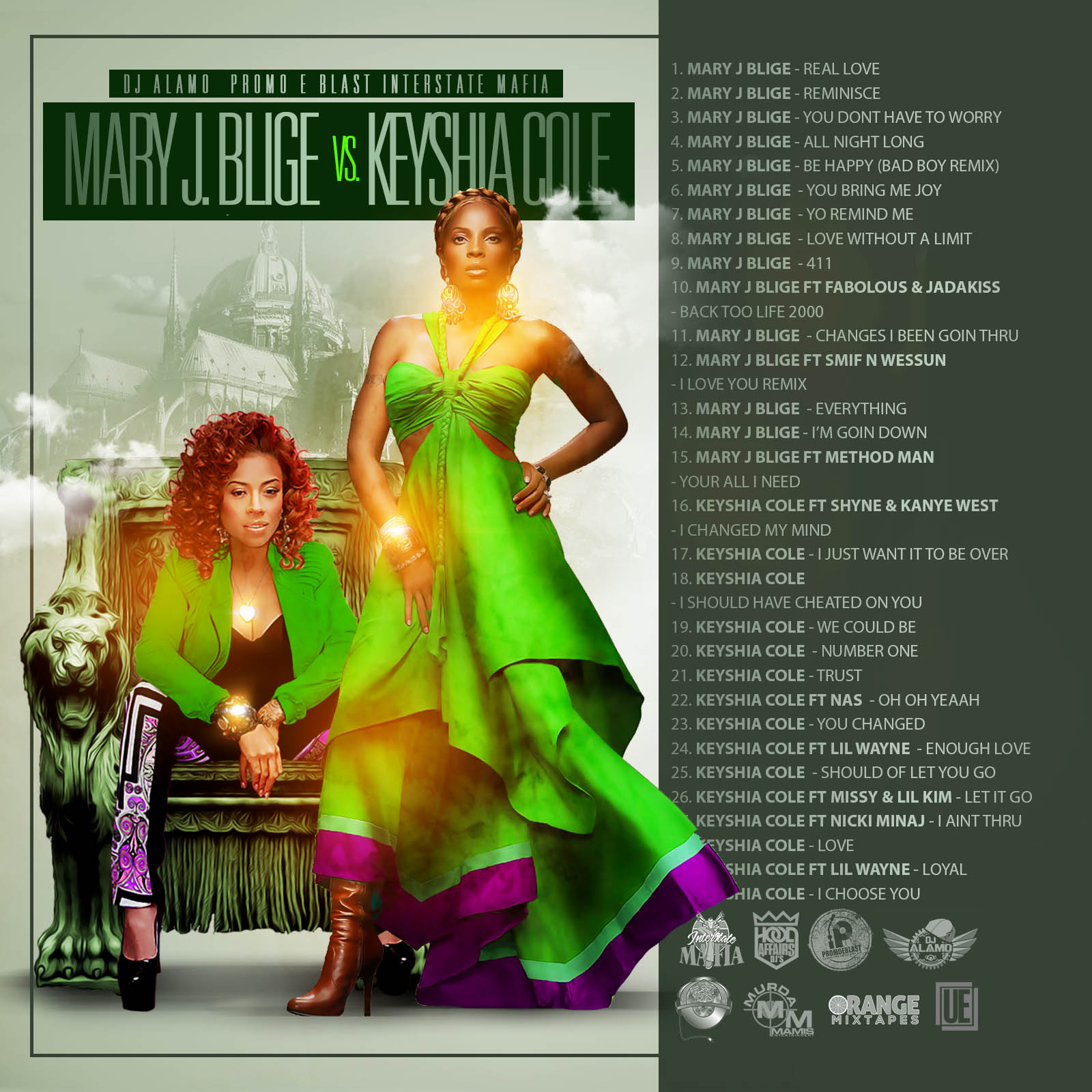 Stream And Download Mixtapes Mary J Blige Vs Kieshia Cole